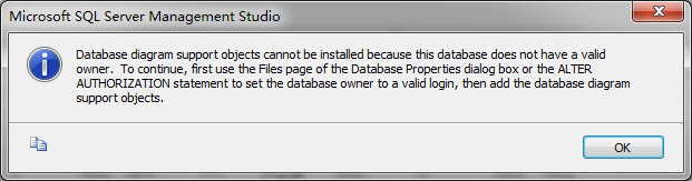 Mssqldatabase diagram support objects cannot database diagram support objects cannot be installed because this database does not have a valid owner to continue first use the files page of the ccuart Images